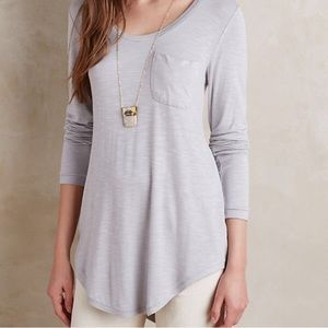 Anthropologie Pure + Good Grey Blouse